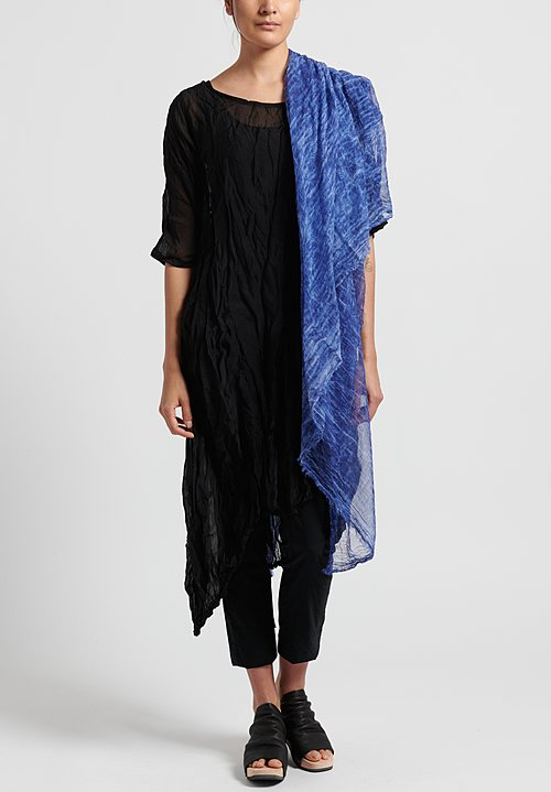 Rundholz Black Label Cotton Crinkle Scarf in Curacao