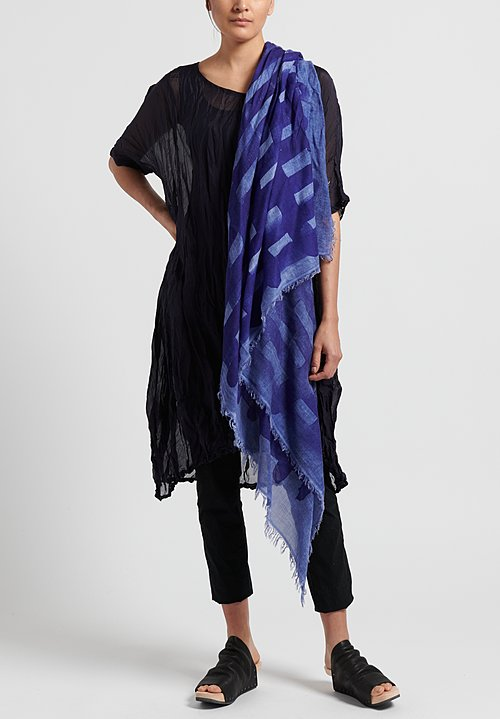 Rundholz Black Label Modal/Wool Printed Scarf in Curacao