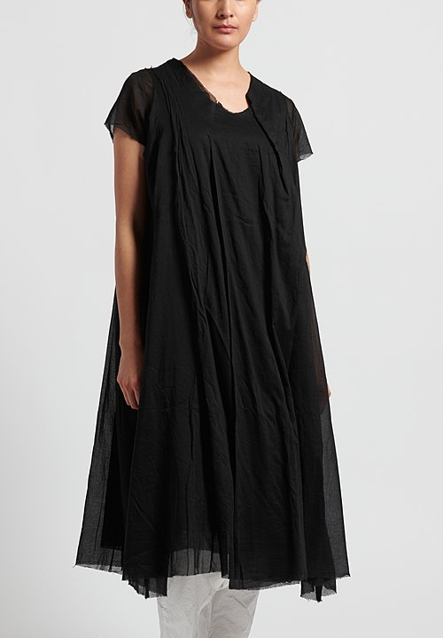Rundholz Cotton Blend Layered Dress in Black