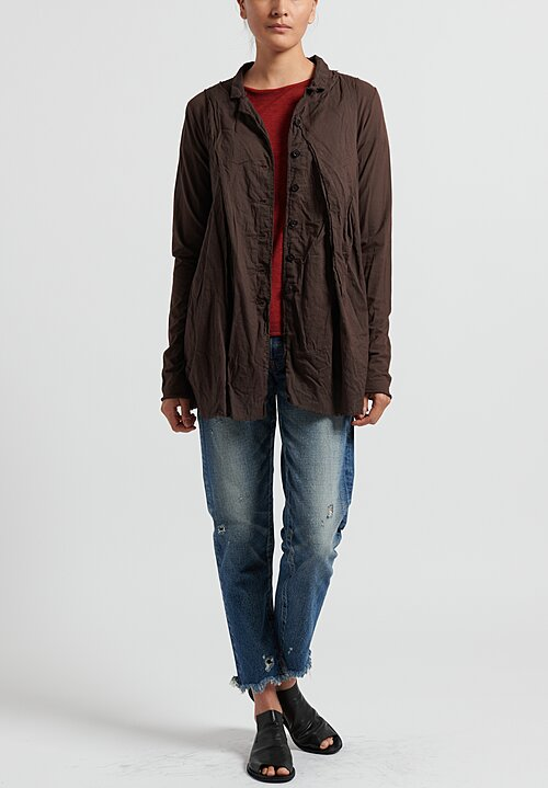 Rundholz Dip Cotton Layered Lightweight Jacket in Rust