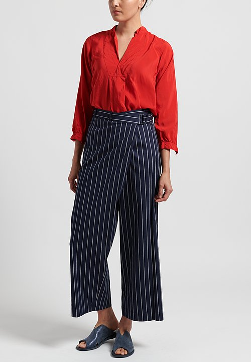 Peter O. Mahler Cotton/Linen Striped Pants