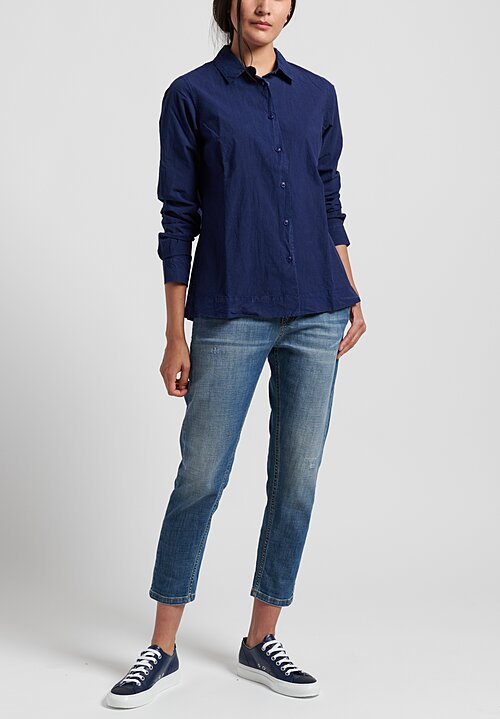 Casey Casey Cotton Chloe Shirt	in Navy Bluez