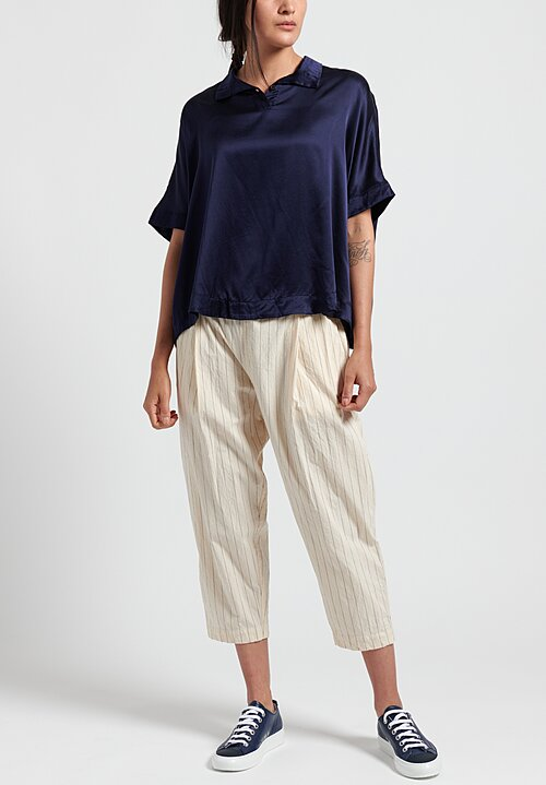 Casey Casey Cotton Cameriere Verger Pants in Beige