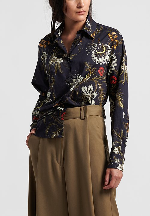 Dries van Noten Clavelly Shirt in Floral Abstract