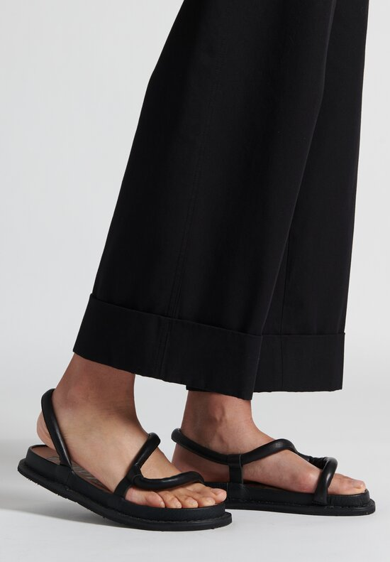 Trippen Zigzag Sandal in Black