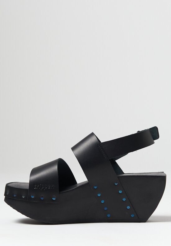 Trippen Flush Sandal in Black
