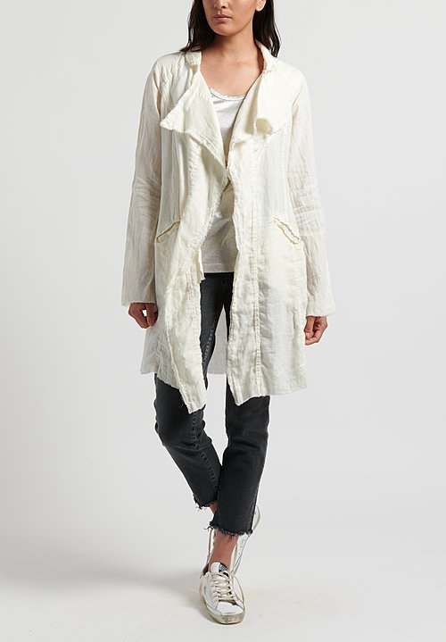 Jaga Linen Coat in White