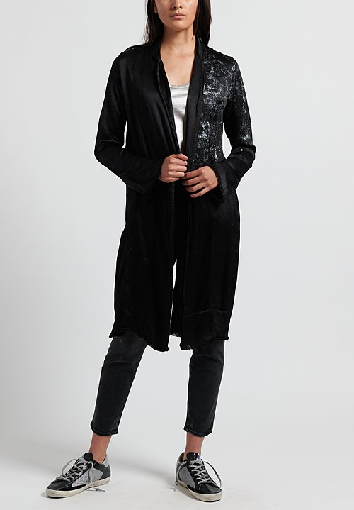 Jaga Painted Martini Coat in Black/ Silver