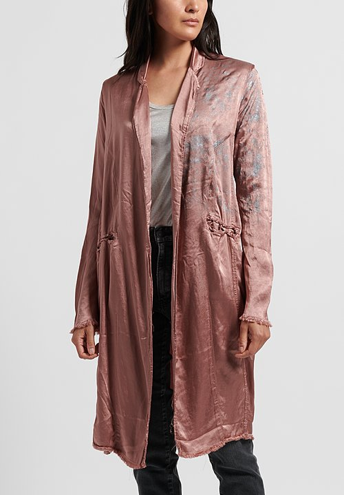 Jaga Painted Martini Coat in Rose/ Silver