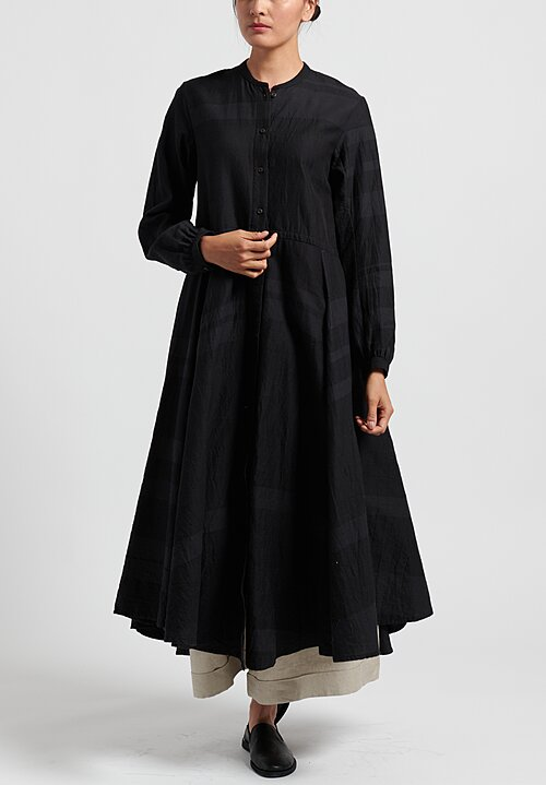 kaval Cotton/Silk, Semi-Fitted Tunic Dress