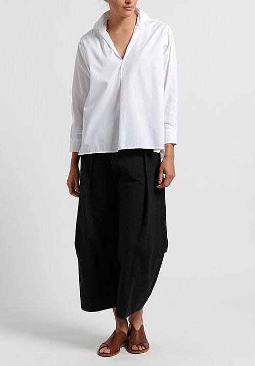 Ticca Simple Cotton Shirt in White