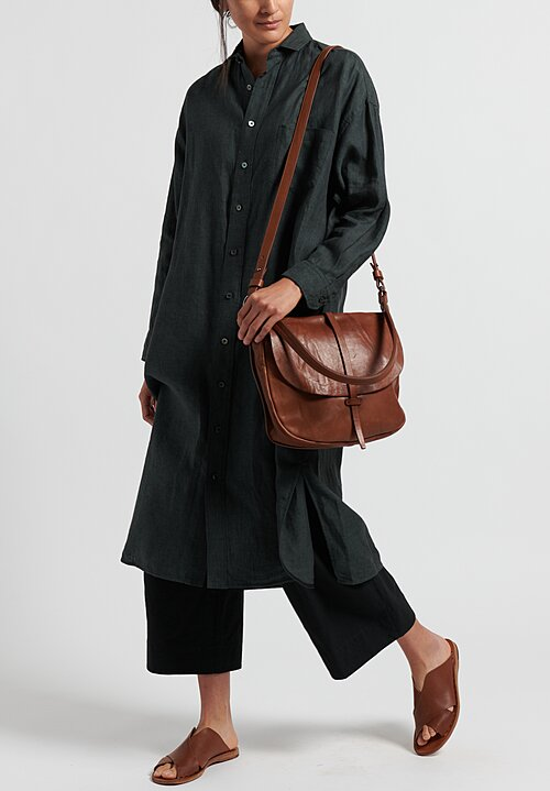 Ticca Linen Shirtdress Tunic in Khaki