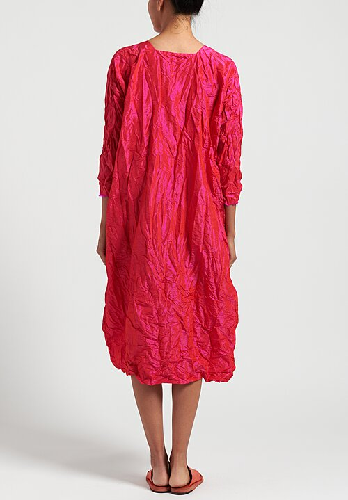 Daniela Gregis Washed Silk Luciana Honey Dress in Fuschia