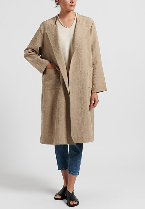 Daniela Gregis Linen Neckless Honey Coat