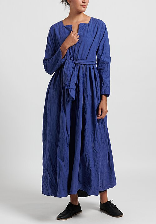 Daniela Gregis Cotton Washed Alve Long Jacket in Blue