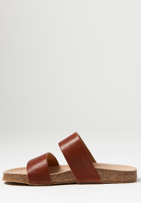 Daniela Gregis Double Band Sandal in Natural