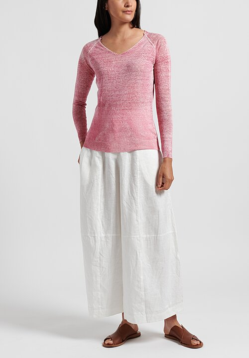 f Cashmere Lightweight Mata Hari Sweater in Magenta