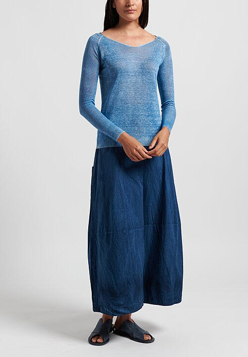 f Cashmere Lightweight Mata Hari Sweater in Blue