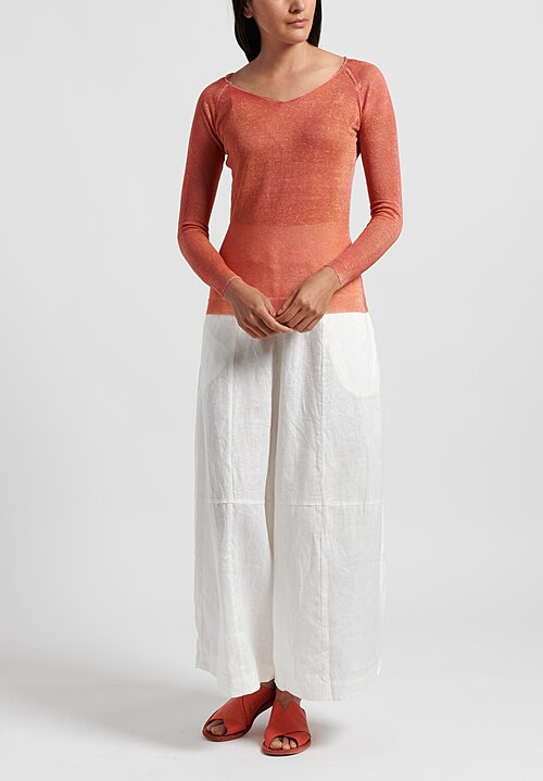 f Cashmere Lightweight Mata Hari Sweater in Orange