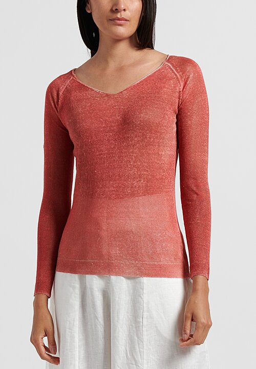 f Cashmere Lightweight Mata Hari Sweater in Red