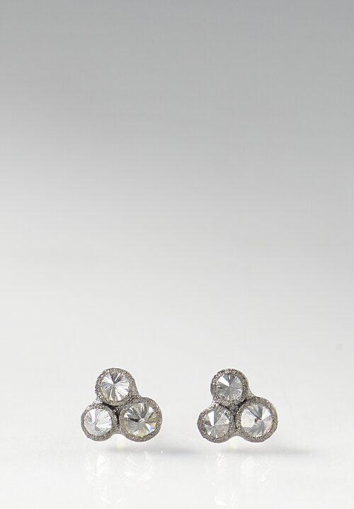 TAP by Todd Pownell 14k, Inverted White Diamond Post Earrings