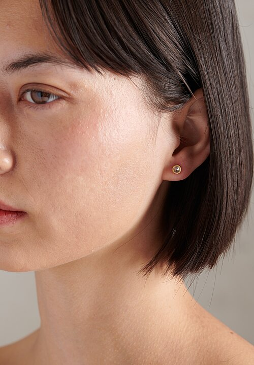 TAP by Todd Pownell 18k, Inverted Brown Diamond Studs