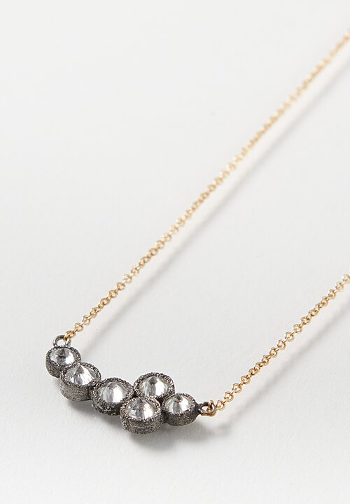 TAP by Todd Pownell 18k, Inverted Diamond Cluster Necklace