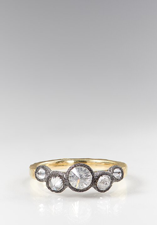 TAP by Todd Pownell 18k, Oxid Silver, Inverted Diamond Cluster Ring
