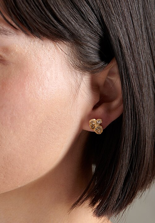 TAP by Todd Pownell 18k, Inverted Diamond Cluster Studs
