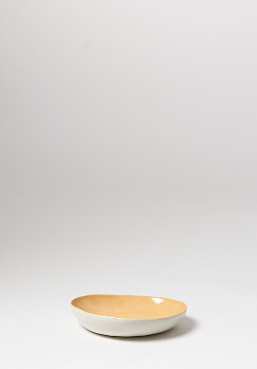 Bertozzi Solid Interior Shallow Pebble Bowl in Gold