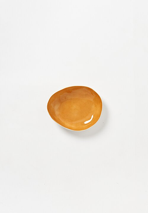 Bertozzi Solid Interior Shallow Pebble Bowl in Bruno