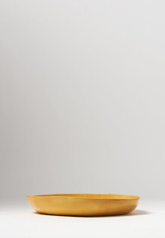 Bertozzi Solid Shallow Serving Bowl in Gold