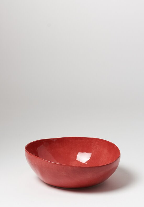 Bertozzi Solid Painted Large Bowl in Rosso