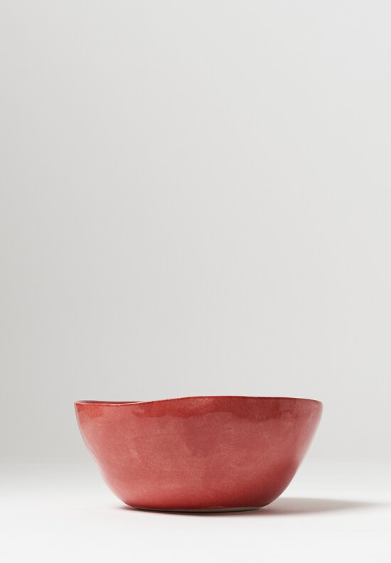 Bertozzi Solid Painted Medium Bowl in Rosso