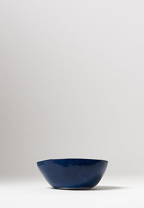 Bertozzi Handmade Porcelain Solid Painted Medium Bowl Blue
