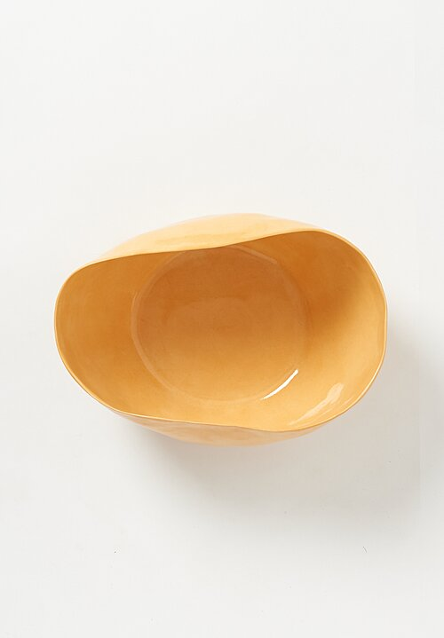 Bertozzi Solid Irregular Serving Bowl in Saffron