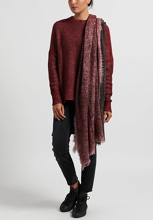 Avant Toi Felted Knitted Scarf in Wine