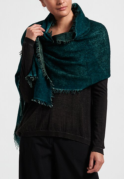 Avant Toi Felted Knitted Scarf in Pavone