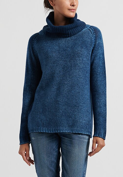 Avant Toi Turtleneck Raglan Sleeve Sweater in Deep