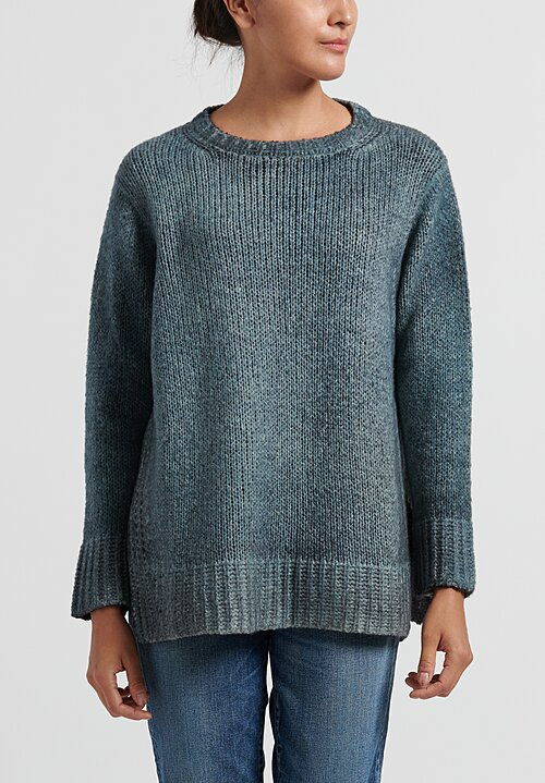 Avant Toi Medium Weight Side Slit Sweater in Venice