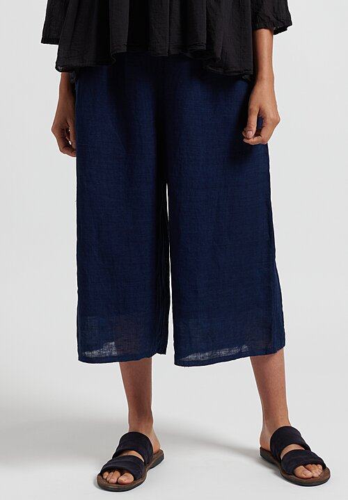 Maison de Soil Linen/ Cotton Easy Pants in Dark Indigo