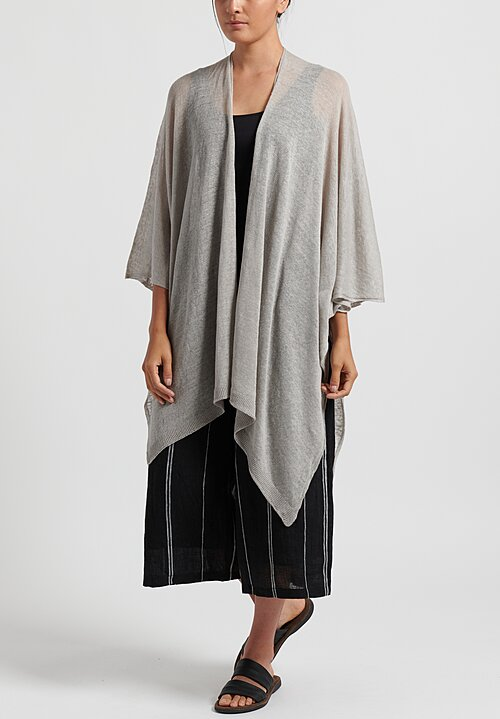 Maison de Soil Lightweight Linen Cape in Grey