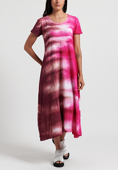 Gilda Midani Pattern Dyed Short Sleeve Monoprix Dress