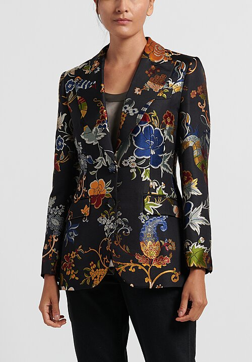 Etro Floral Brocade Fitted Jacket