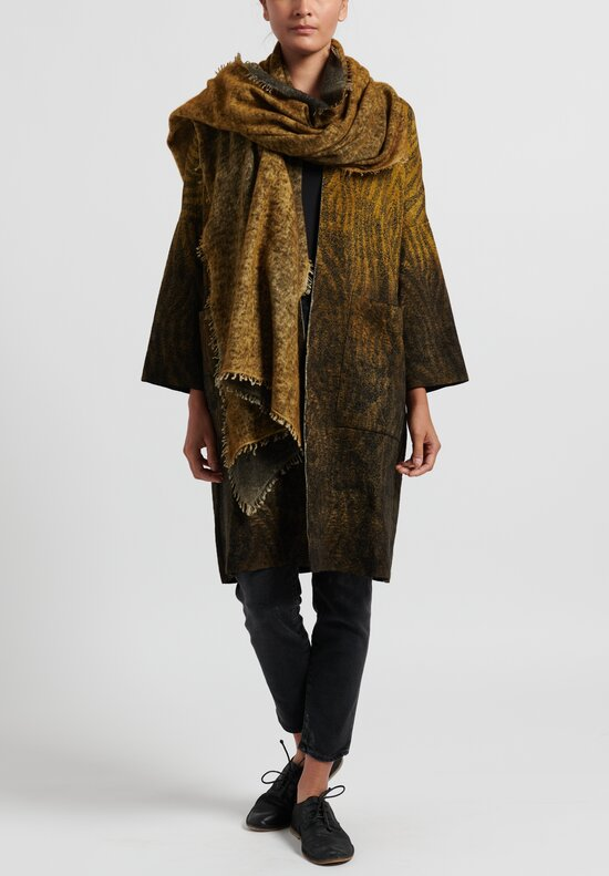 Avant Toi Ombre Animal Print Duster