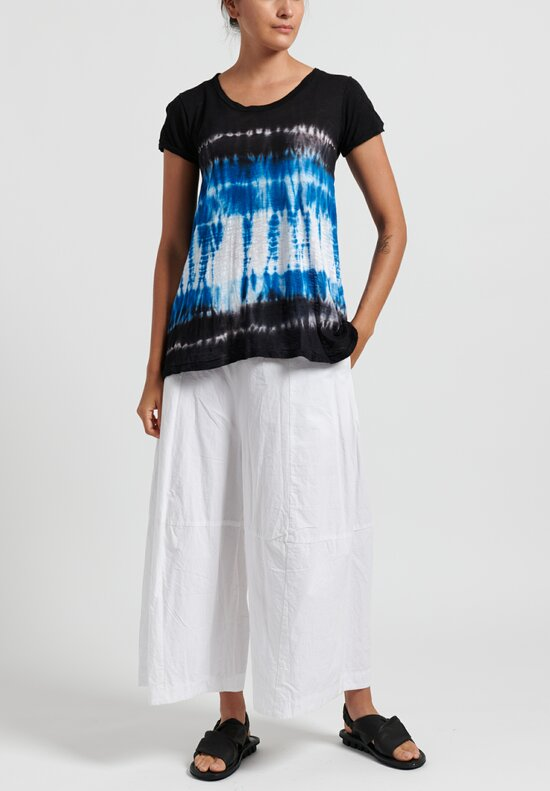 Gilda Midani Pattern Dyed Short Sleeve Monoprix Tee in Blue Row