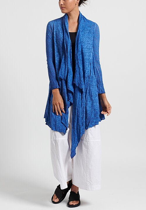 Gilda Midani Solid Dyed Long Karan Cardigan in Klein