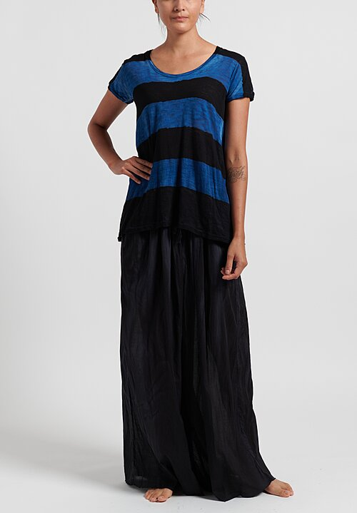 Gilda Midani Sheer Wide Leg Pant in Black