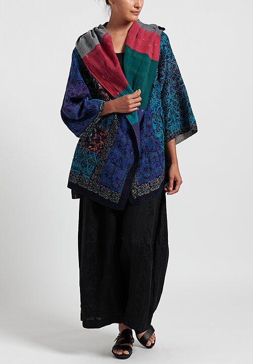 Mieko Mintz 2-Layer Hooded Bagh A-Line Jacket