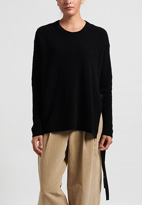 Uma Wang Long Sleeve Tie Sweater